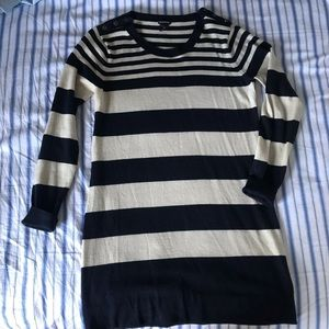 New Club Monaco Merino Wool Striped Sweater Dress